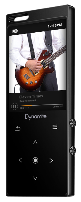 Samvix Bluetooth Dynamite 8 GB MP3 Player with Built in Speaker, Touch Buttons , SD Card Up to 64 GB, Voice Recorder, Black