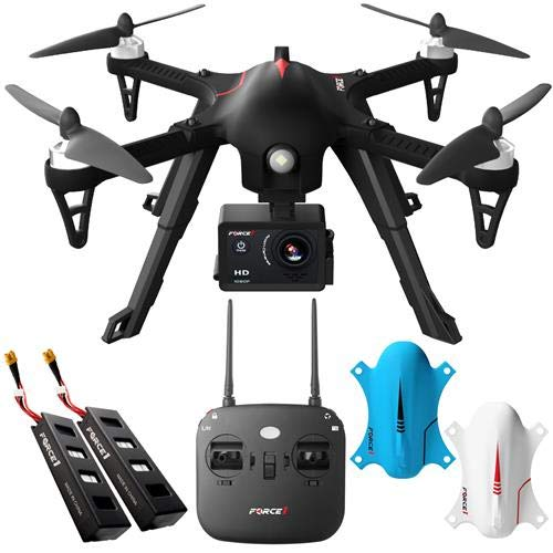Force 1 F100 Ghost RC Brushless Motor 1080 HD Drone with Extra Battery