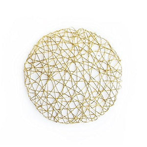 "American Atelier Set of 4, Gold 14.5"" Round Charger  Placemat"