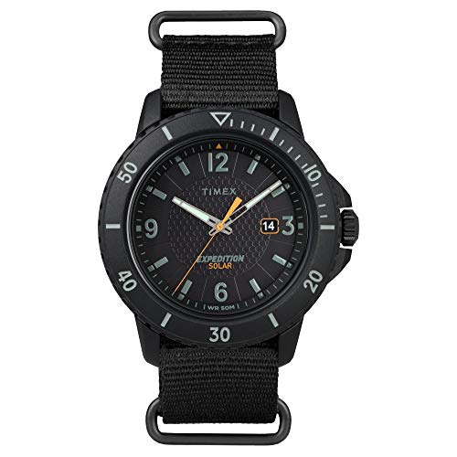 Timex Men's TW2U30300 Expedition Gallatin Solar Black Fabric Strap Watch