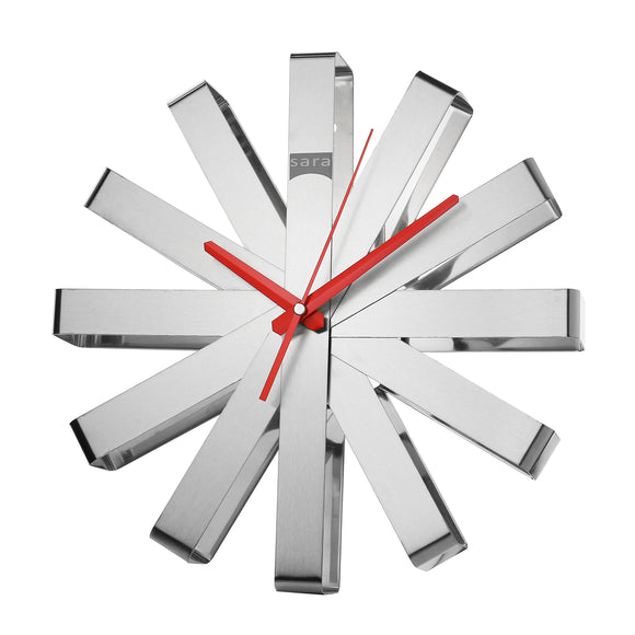 Kadra Stainless Steel Ribbons Wall Clock