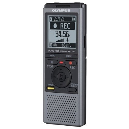 Olympus VN-721PC 2GB Digital Mono Voice Recorder - Factory Refurbished