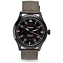 American Aviator Metal Face Watch with Nylon Band