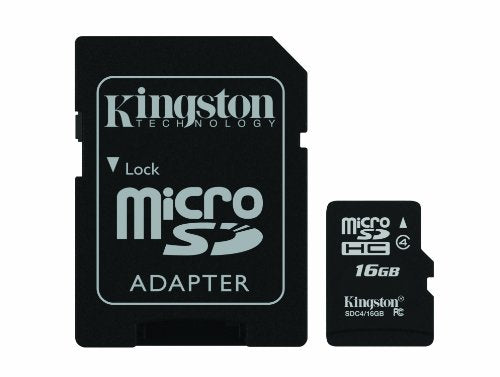 Kingston Digital 16 GB Class 4 micro SDHC Flash Card with SD Adapter