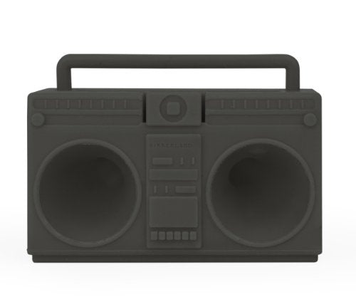 Kikkerland Battery-Free Boombox Speaker - for iPhone 4 & 5 - Assorted  Pink and Grey