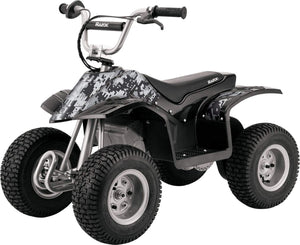 "Razor Dirt Quad 24 Volt Ride On Up to 40min continuous use, Ages 8 and up, Up to 120lbs (43"" x 24"" x 31.5""), Camo Black"