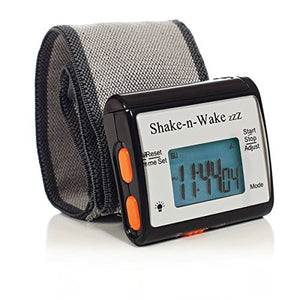 Shake-N-Wake Vibrating Wrist  Alarm Clock (Black)
