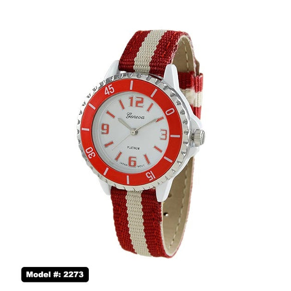 Geneva 2273 Women's Watch, Red/White