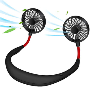 Cellet Hands Free Portable Double Side Neck Held Fans