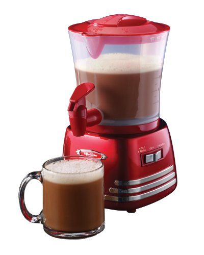 Nostalgia HCM700RETRORED Retro Series 32-Ounce Hot Chocolate Cocoa Maker with Easy-Pour Spigot