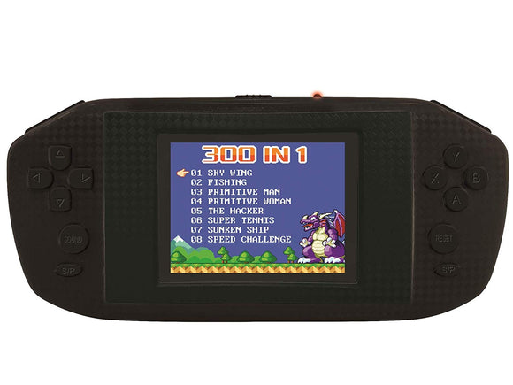LEXiBOOK JL3000 Power Cyber Arcade Portable Game Console, 300 Games, 2.8'' LCD Color Screen (3 AA Batteries NOT included)