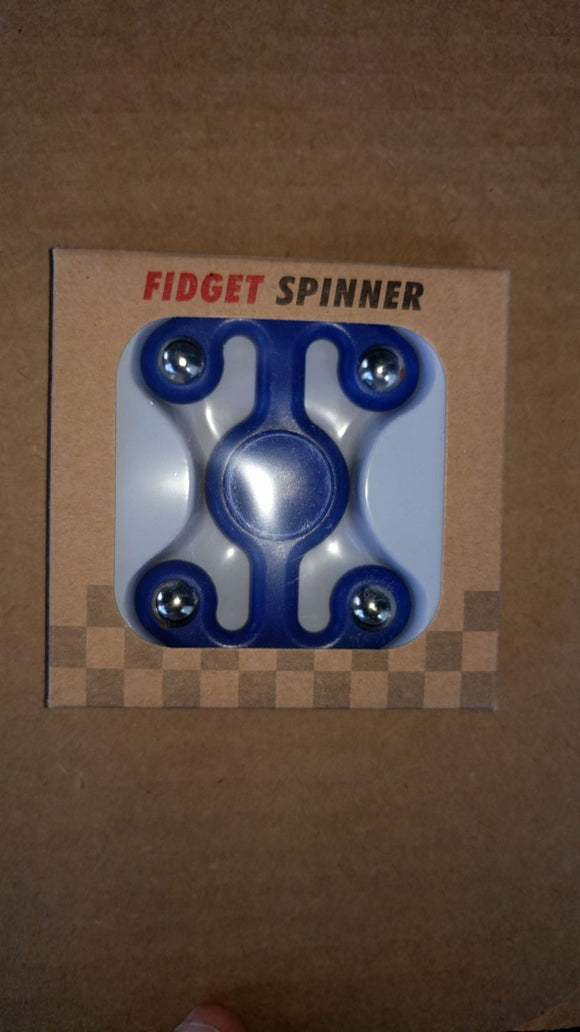 4 Sided Fidgit Fidget Spinner, Blue
