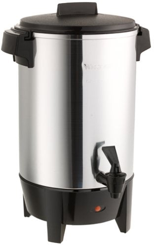 This 30 Cup Polished Hot Water Urn might serve you also as a Coffee Maker.  Toiveling is available. Fast Free Delivery to Lakewood, Parts of Brooklyn, Monsey, Spring Valley and Monroe. US Domestic Shipping.
