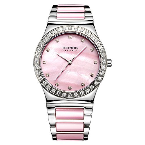 Bering Women's Ceramic Collection Watch, Silver / Pink