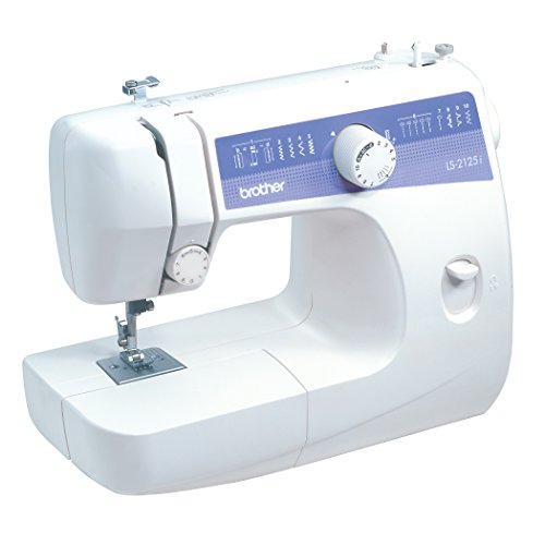 Brother LS2125i 10 Stitch Easy-to-Use, Everyday Sewing Machine with 10 stitches including Blind Hem and Zigzag, and 4-Step Auto Buttonhole, 25 year limited warranty