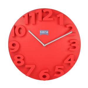 Kadra Red Wall Clock