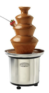Nostalgia Electrics CFF986 3-Tier Chocolate Fondue Fountain, Stainless Steel