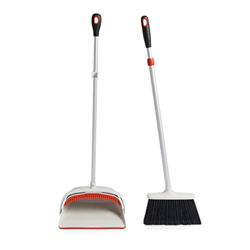 OXO Large Upright Sweep Set, Extendable Handle Broom With Dustpan