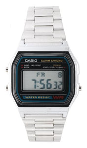 Casio A158W-1 Men's Classic Stainless Steel Water Resistant Digital Watch