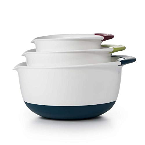 OXO Good Grips Mixing Bowl Set (Red 1.5Qt, Green 3Qt, Blue 5Qt)