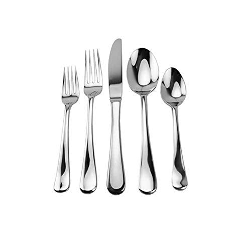 David Shaw PRD850 20 Piece 18/10 Stainless Steel Flatware Set, Splendide Georgia