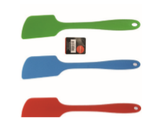 Kadra L. Gourmet Silicone Angled Spatula , Ass. Colors (Red, Blue, Green)