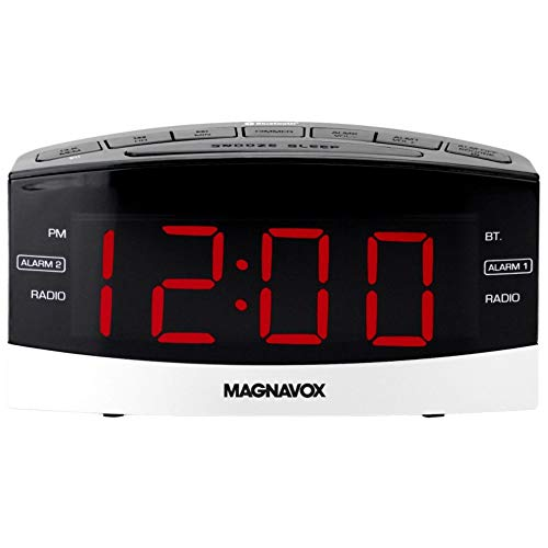 Magnavox MR41806BT Dual Alarm Digital Clock Radio AM, FM, AUX, Bluetooth,