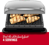 "George Foreman 4 Serving Removable Plates Grill with 60"" Cooking Space - Platinum"