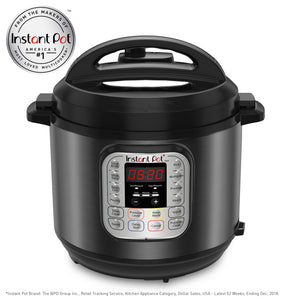 Instant Pot Duo 7-in-1 Electric Pressure Cooker, Slow Cooker, Rice Cooker, Steamer, Saute, Yogurt Maker, and Warmer, 6 Quart, Black, 14 One-Touch Programs