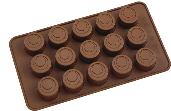 Kadra Cool Silicone High Round Chocolate Mold, Brown