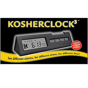 2-Pack Kosher Clock 3 with Protective Travel Case - Includes Shabbos and Yom Tov, Travel and Everyday Modes, 10 Individual Alarms Allow You to Set The Clock for The Exact Day and Time Needed