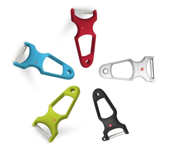 Toolswiss Extra Sharp & Smooth Swiss Peeler - Black, Red, Green, Sky Blue, White