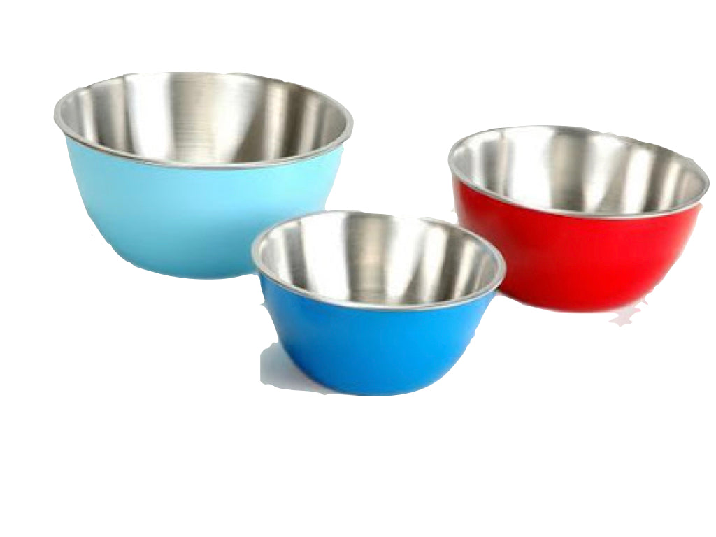 "SS Colored Mixing Bowl 12.5"" (Blue)"