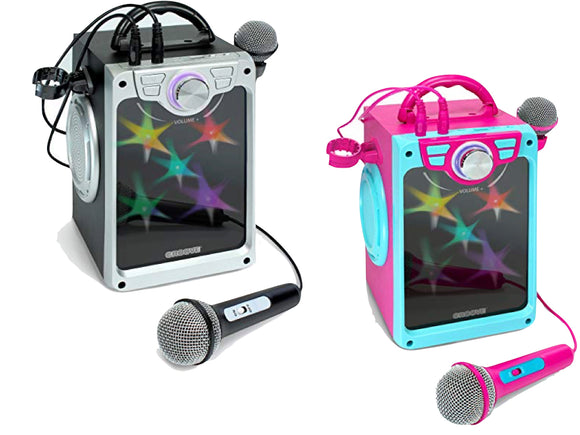 Croove Karaoke Machine for Kids (Black, Pink)