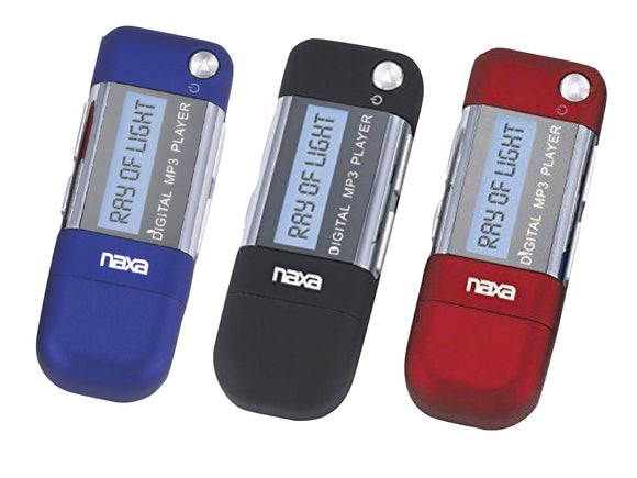 Naxa NM-145 4GB MP3 Player/Voice Recorder (Red, Blue, Black)