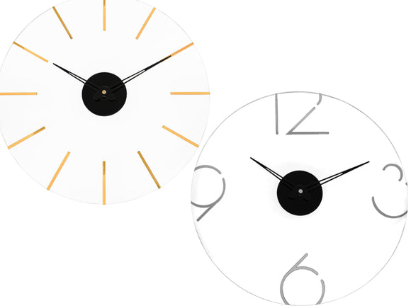 Waterdale MetaLucite Clock (Line Style Gold, Number Style Silver)