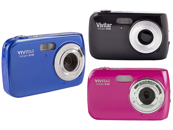 Vivitar ViviCam S126 Digital Camera (Black, Blue, Pink)
