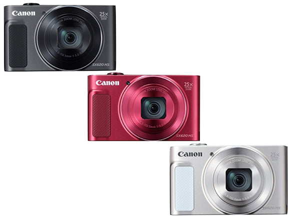 Canon Powershot SX620 (Red, Black, Silver)