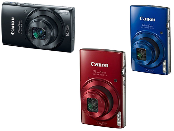 Canon Powershot ELPH 190 (Black, Red, Blue)