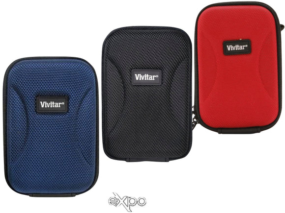 Vivitar Hard Shell Carrying Case for Cameras - Medium (Black, Blue, Red, White)