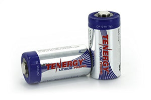 Tenergy 3V CR123A Lithium Battery with PTC Protected, 2 Pack BATTBUT2PK