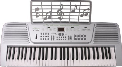 New Huntington 61 Keys Keyboard Full Size Electronic Piano KB61 - Silver (Ac Adapter Incl.)