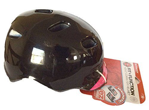 Schwinn Fit + Function Women Commuter Helmet 14+ Magnetic EZ Snap Buckle (Black, Pink)