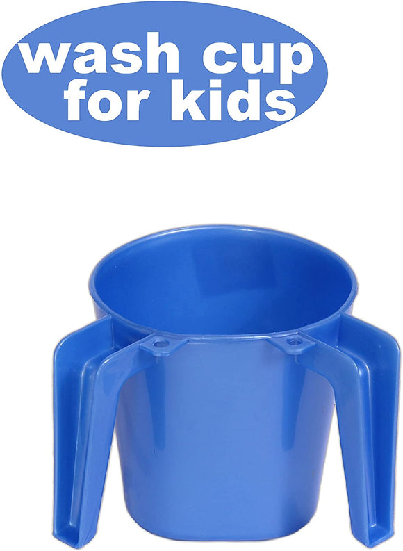 YBM Home Plastic Square Small Washing Cup, Blue