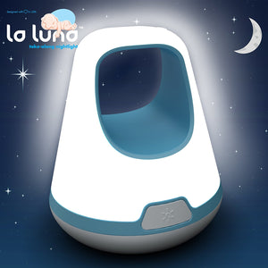 La Luna Take Along Portable LED Toddler Night Light, Blue – Three Brightness Settings; Automatic Gradual Fading Shut-off after 30 Minutes – Long Lasting Rechargeable Battery