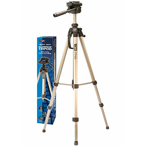 Aluminum Tripod with 3 Way Pan & Tilt Head , 66