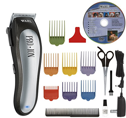 Wahl Professional Animal Pro Ion Pet Cordless Hair Clipper Kit, Includes Sizes 1-7