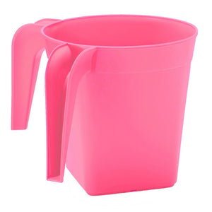 YBM Home Square Plastic Washing Cup, Pink