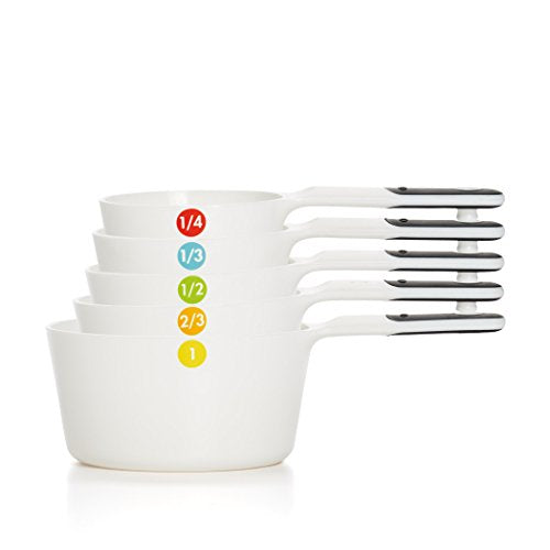 OXO Good Grips 6 Piece Plastic Measuring Cups Set, White