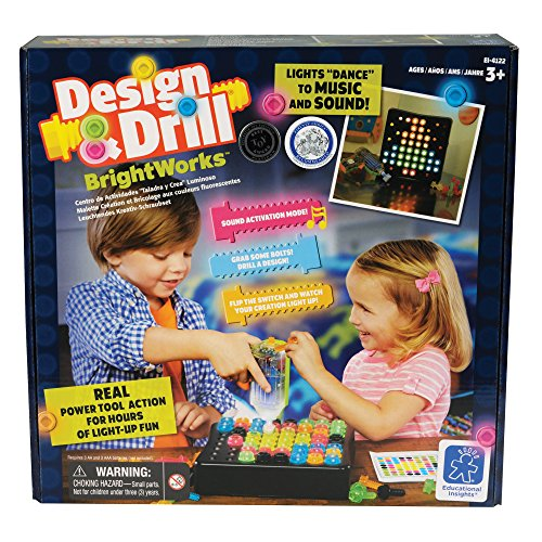 Educational Insights Design & Drill BrightWorks, 3 AA and 3 AAA Batteries Required